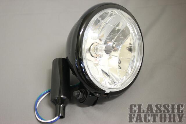 【CLASSIC FACTORY 】5.5吋  Bates 頭燈 (晶鑽/黑色) - 「Webike-摩托百貨」