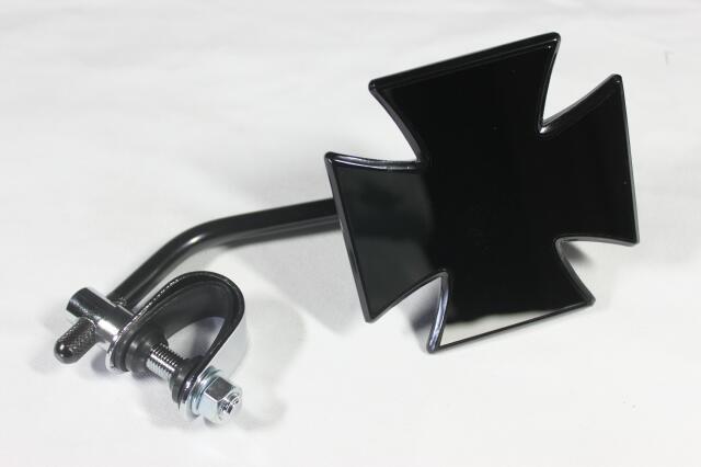 【CLASSIC FACTORY 】十字型後視鏡夾鉗式 ( 黑)短 - 「Webike-摩托百貨」