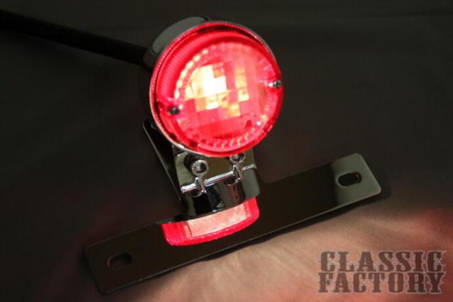 【CLASSIC FACTORY 】Retro Round 尾燈 (電鍍) - 「Webike-摩托百貨」