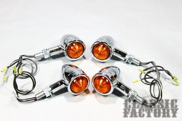 【CLASSIC FACTORY 】Mini Brett 方向燈 (電鍍 4個一組) - 「Webike-摩托百貨」