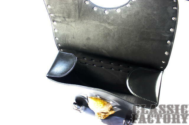 【CLASSIC FACTORY 】皮革馬鞍包雙骷髏4 - 「Webike-摩托百貨」