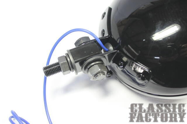 【CLASSIC FACTORY 】Thin Bates 頭燈 (透明/黑色) - 「Webike-摩托百貨」