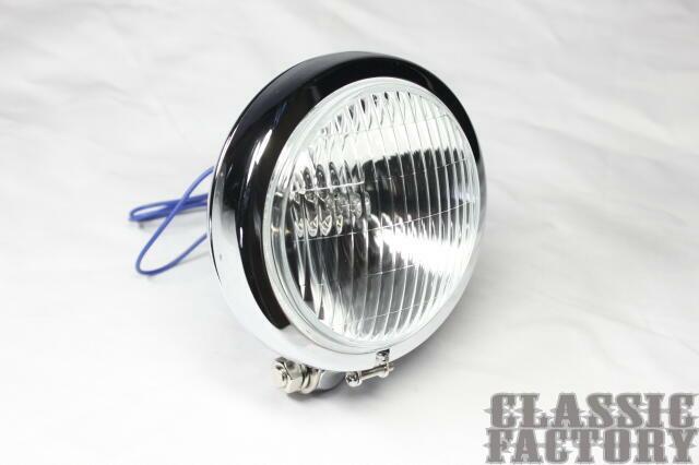 【CLASSIC FACTORY 】Thin Bates 頭燈 透明/電鍍 - 「Webike-摩托百貨」