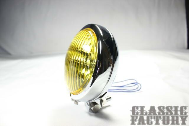 【CLASSIC FACTORY 】Thin Bates 頭燈 (黃色/電鍍) - 「Webike-摩托百貨」