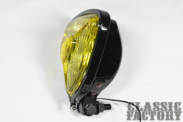【CLASSIC FACTORY 】Thin Triangle Bates 頭燈 (黃色/黑色) - 「Webike-摩托百貨」