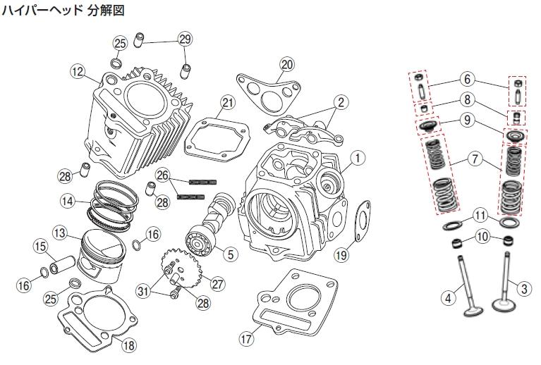 【DAYTONA】【Hyper汽缸頭・DYNA汽缸頭】凸輪軸鏈輪 - 「Webike-摩托百貨」