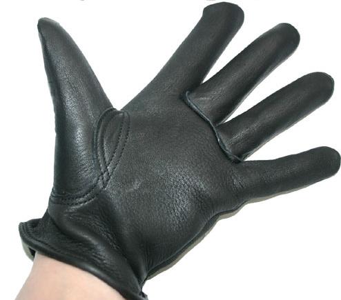 【MOTOBLUEZ】【HEAVY】鹿皮手套 PLAIN (黑) - 「Webike-摩托百貨」