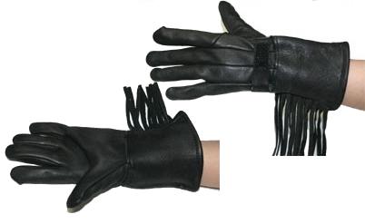 【MOTOBLUEZ】【HEAVY】鹿皮流蘇長手套(黑) - 「Webike-摩托百貨」