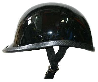 【MOTOBLUEZ】獨創裝飾用半罩安全帽(Jockey) 黑色 - 「Webike-摩托百貨」