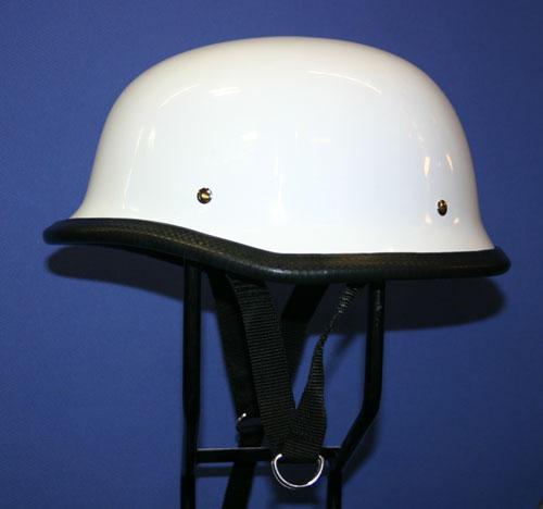 【MOTOBLUEZ】獨創裝飾用半罩安全帽(German)白色 - 「Webike-摩托百貨」