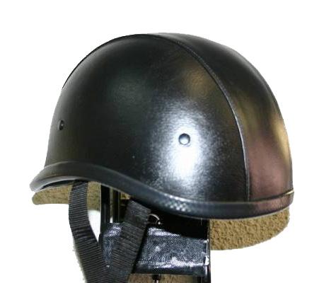 【MOTOBLUEZ】[Large Size] 獨創裝飾用皮革半罩安全帽(Jockey) - 「Webike-摩托百貨」