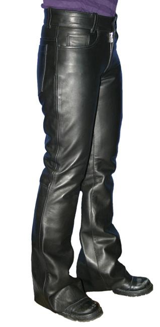 【MOTOBLUEZ】【HEAVY RED LABEL】[女用] 油皮靴型褲 - 「Webike-摩托百貨」
