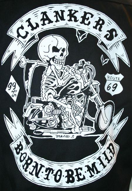 【MOTOBLUEZ】【HEAVY】Motobluez15周年原廠短袖工作衫(BORN TO BE MILD) 海軍藍 - 「Webike-摩托百貨」