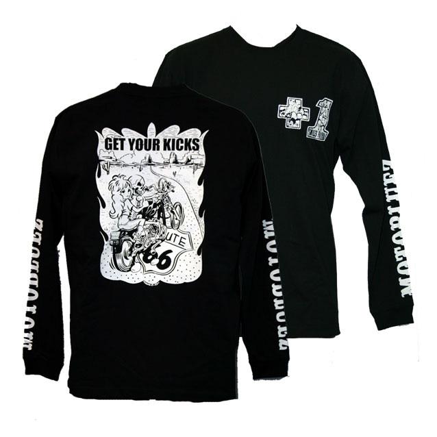 【MOTOBLUEZ】【MOTOBLUEZ Original】Charity長T恤(GET YOUR KICKS) - 「Webike-摩托百貨」