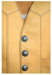 【MOTOBLUEZ】【HEAVY】Glove皮革背心A (黃褐) - 「Webike-摩托百貨」