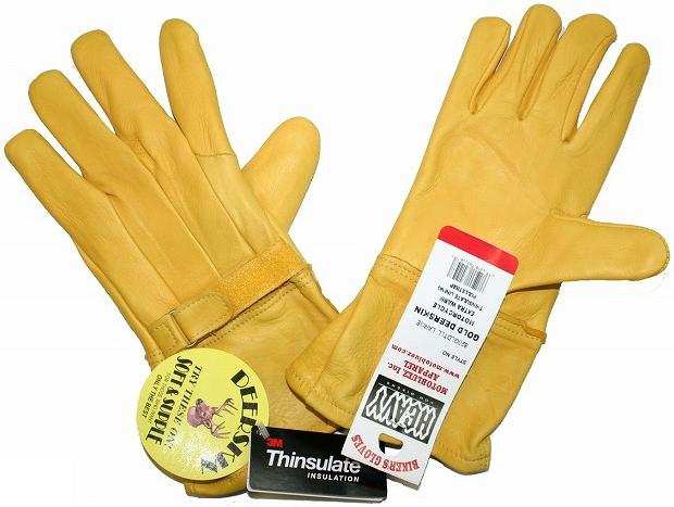 【MOTOBLUEZ】【HEAVY】鹿皮長手套・Thinsulate 冬用 - 「Webike-摩托百貨」