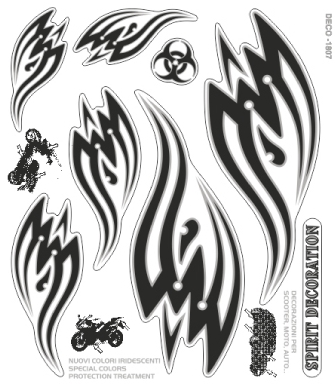 【ROUGH&ROAD】圖騰印刷裝飾貼組 - 「Webike-摩托百貨」