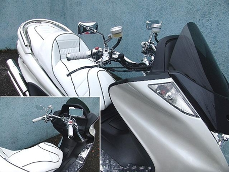 【RISE CORPORATION】(電鍍)方型短支架後視鏡(10mm) - 「Webike-摩托百貨」