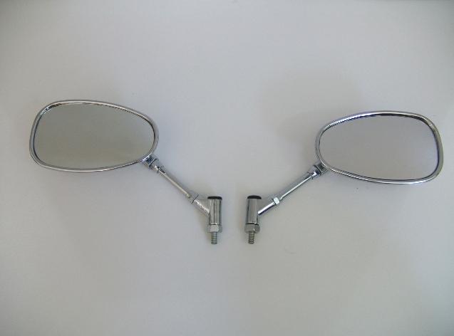 【RISE CORPORATION】(電鍍)丸型短支架後視鏡(10mm) - 「Webike-摩托百貨」