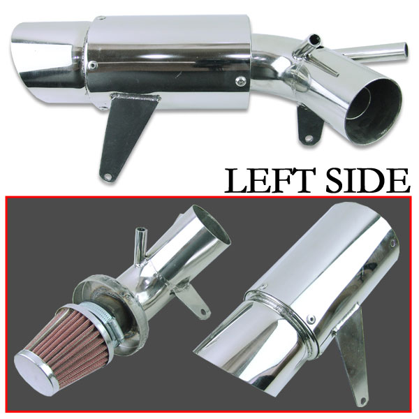 【RISE CORPORATION】砲彈型 左右出 不銹鋼空氣濾清器 - 「Webike-摩托百貨」
