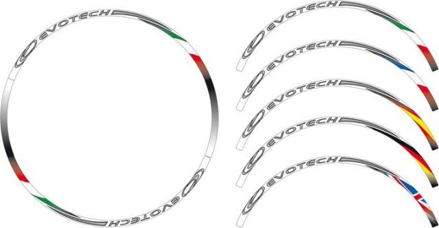 【EVOTECH】輪框貼紙「COOL FLAG STRIPE」 - 「Webike-摩托百貨」