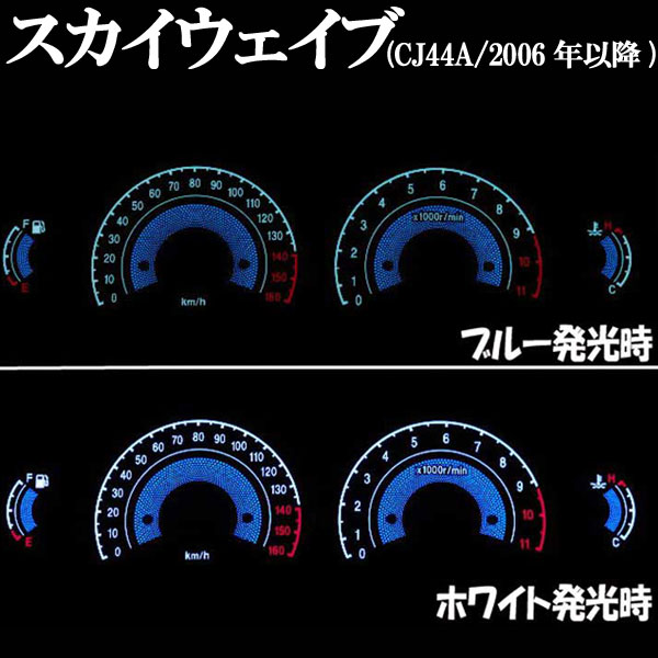 【RISE CORPORATION】EL 儀錶面板 (Skywave CJ44A/2006年以後用) - 「Webike-摩托百貨」