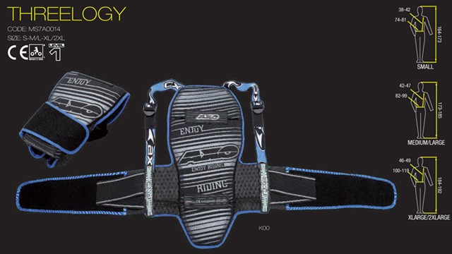 【AXO】護背 LEV.1 「THREELOGY-BACK PROTECTOR」 - 「Webike-摩托百貨」