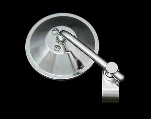 【Neofactory】4吋 短柄圓型後視鏡 夾鉗式 ( 黑) - 「Webike-摩托百貨」
