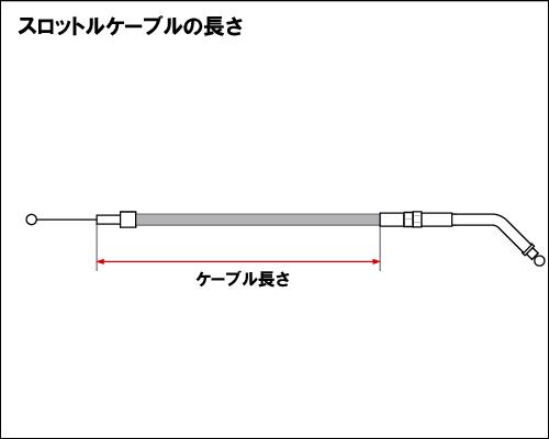 【Neofactory】41吋 油門拉索 45° (黑) - 「Webike-摩托百貨」
