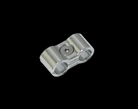 【Neofactory】矽導線固定座 8mm (鍍鉻) - 「Webike-摩托百貨」