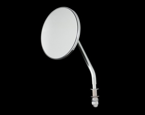 【Neofactory】OEM柄型式4吋圓型後視鏡 (鍍鉻) 左用 - 「Webike-摩托百貨」