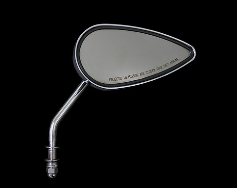 【Neofactory】柄型 淚滴型後視鏡 (鍍鉻) 右用 - 「Webike-摩托百貨」