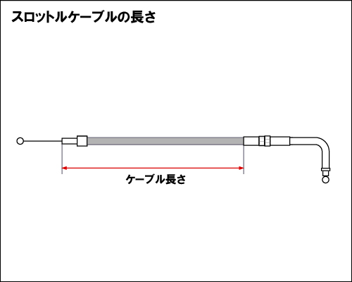 【Neofactory】45吋 油門拉索 90° (黑) - 「Webike-摩托百貨」