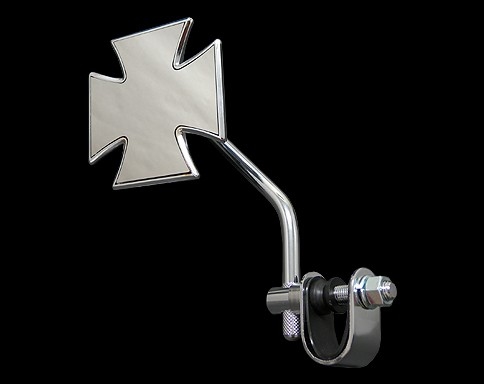 【Neofactory】短柄十字型後視鏡 夾鉗式 (鍍鉻) - 「Webike-摩托百貨」