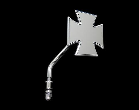 【Neofactory】短柄十字型後視鏡 (鍍鉻) 右用 - 「Webike-摩托百貨」
