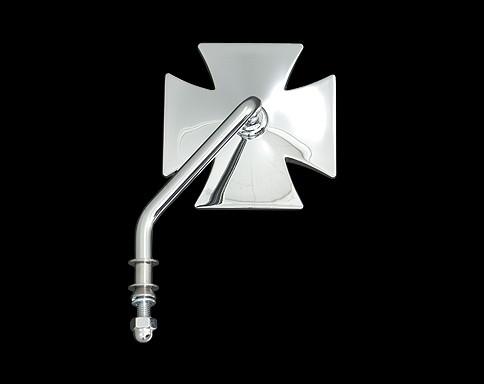 【Neofactory】短柄十字型後視鏡 (鍍鉻) 左用 - 「Webike-摩托百貨」