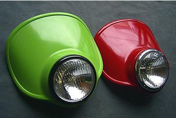 【OSCAR】頭燈罩組 4.5 Type C (白色塑膠)/電鍍框 - 「Webike-摩托百貨」