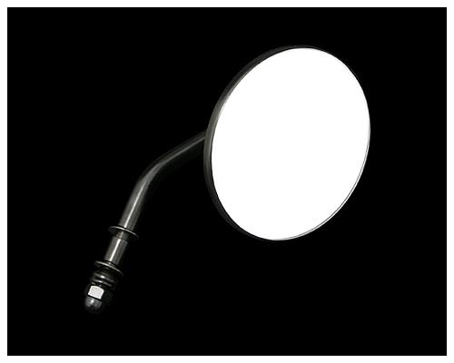 【Neofactory】4吋 短柄圓型後視鏡 非夾鉗式 ( 黑) - 「Webike-摩托百貨」