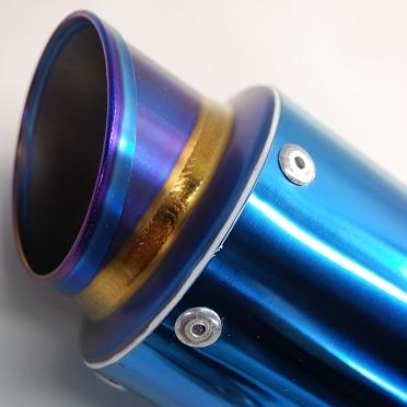 【MAVERICK】MV83鈦合金消音器(斜線切割造型) - 「Webike-摩托百貨」