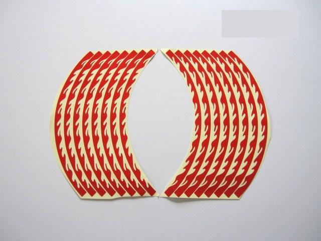 【Rin Parts】輪框貼紙 (Fire Burn) - 「Webike-摩托百貨」