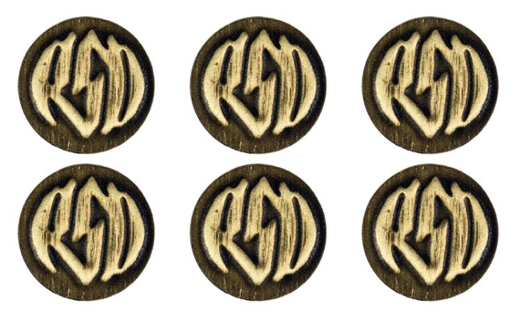 【RSD Roland Sands Design】徽章套件 (黃銅/有標誌) - 「Webike-摩托百貨」