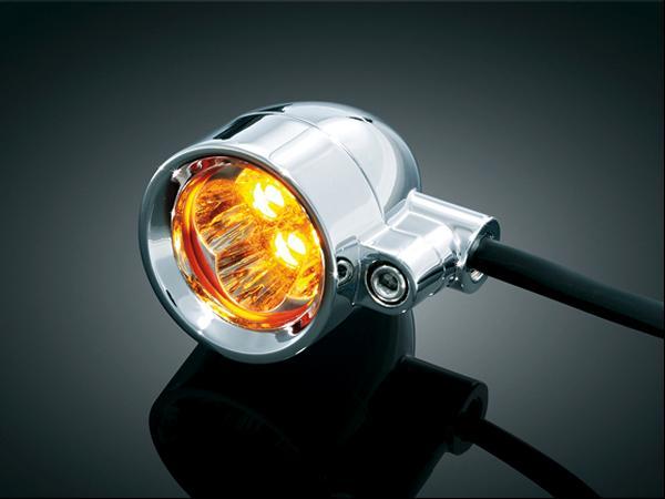 【kuryakyn】Super Bright Small Silver Barrett LED燈 (琥珀色/Run-turn) - 「Webike-摩托百貨」