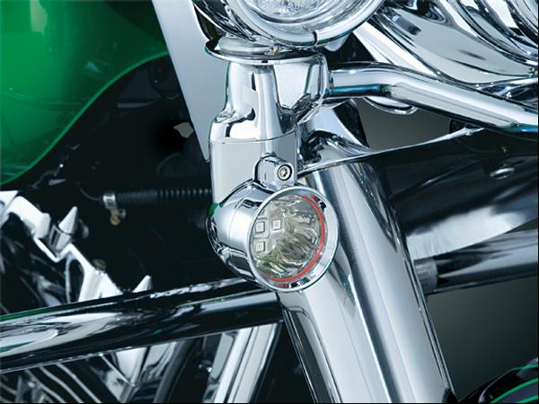 【kuryakyn】Silver Barrett 大型方向燈 (琥珀色/側行李箱支架) - 「Webike-摩托百貨」