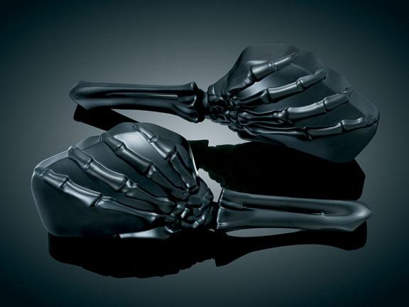 【kuryakyn】Skeleton Hand 後視鏡 (全黑色) - 「Webike-摩托百貨」