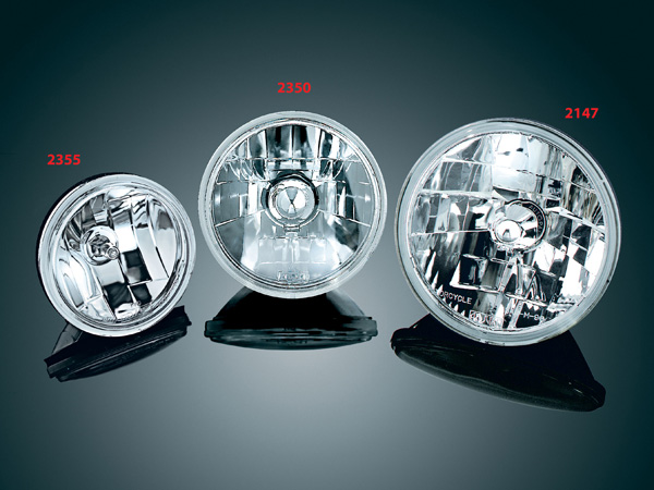 【kuryakyn】7吋 Diamond Cut Ice 晶鑽型頭燈 (Smooth 透明燈殼) - 「Webike-摩托百貨」