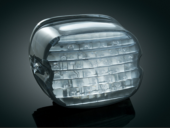 【kuryakyn】LED 尾燈 (燻黑色/有牌照照明窗) - 「Webike-摩托百貨」