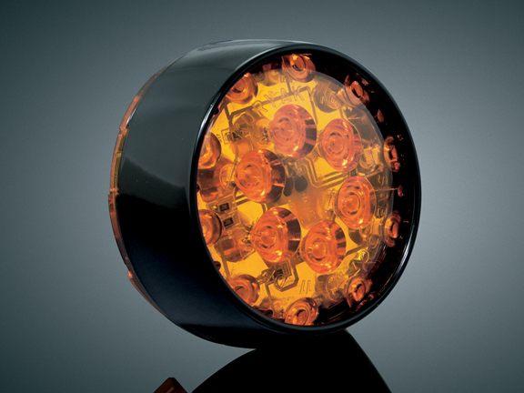 【kuryakyn】Barrett LED 前方向燈 (琥珀色燈殼) - 「Webike-摩托百貨」