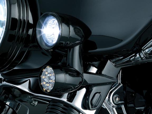 【kuryakyn】Barrett LED 前方向燈 (燻黑色燈殼) - 「Webike-摩托百貨」