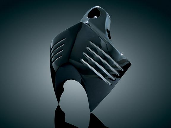 【kuryakyn】Big Twin用 V-Shield 喇叭蓋 (亮黑色) - 「Webike-摩托百貨」