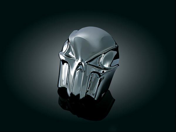【kuryakyn】Skull 喇叭蓋 (黑色鍍鉻) - 「Webike-摩托百貨」